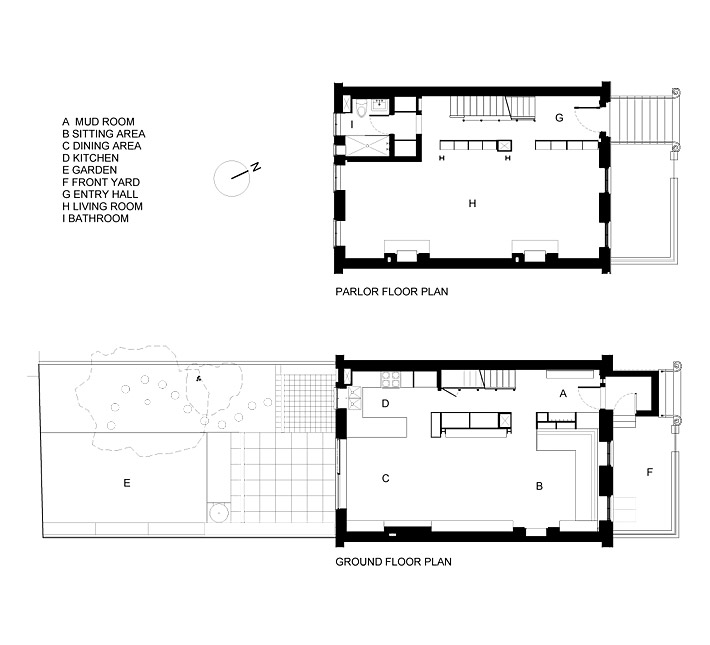Brooklyn row house floor plans